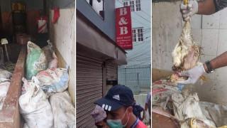 बीएण्ड बी मासु पसलमा २२ बोरा मरेको कुखुरा भेटियो