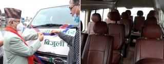 आजदेखि काठमाडौं-रामेछाप विद्युतीय मिनी बस सञ्चालन