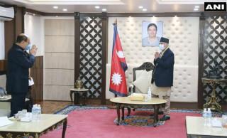 प्रधानमन्त्री र भारतीय विदेशसचिवबीच भेटवार्ता